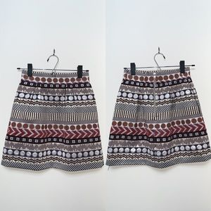 Patterned Skirt - Anthropologie